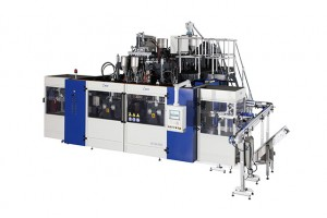 Blow Molding Machine B15D-750 with view stripe (2 Stations 8 Cavities)