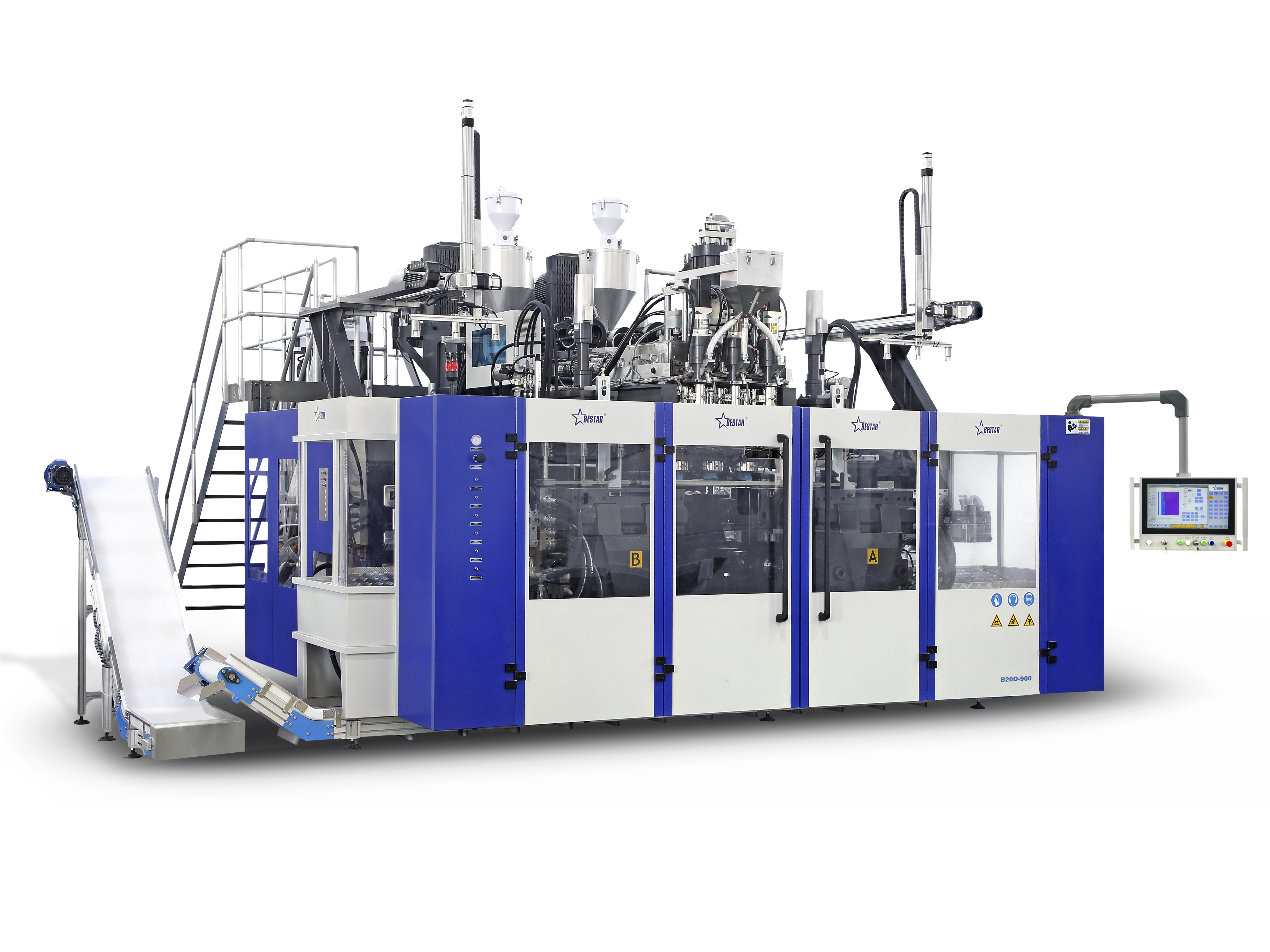 B20D-900 Blow Moulding Machine (2 Stations 3 Die Heads